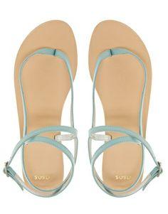Enlarge ASOS FINISH Leather Flat Sandals