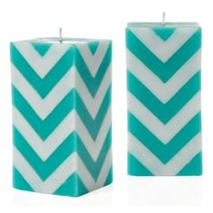 Zig Zag Candle - Aquamarine from Z Gallerie