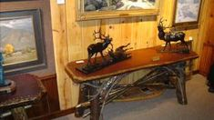 Adirondack rustic furniture - Woodworking Challenge Adirondack Furniture, Rustic Furniture, Office Desk, Challenge, Woodworking, Home Decor, Desk Office, Decoration Home, Desk