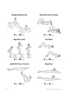 great at-home excercises | printable workouts, workout and exercises