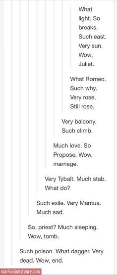 The Tumblr version of Romeo and Juliet. *curtain drops* *resounding applause*