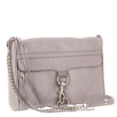 Rebecca Minkoff MAC Clutch in Soft Grey with Silver Hardware Rebecca Minkoff Handbags, Mac, Chain, Shoe Bag, Silver, Hardware, Stuff To Buy, Accessories, Things To Sell