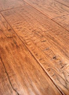 LW Mountain Hardwood Floors Hickory Autumn Brown Stain One Strip Distressed Click  Hardwood Flooring 125 Mm