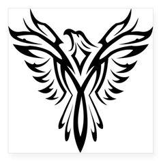 Tribal Tattoos, Tribal Eagle Tattoo, Tribal Phoenix Tattoo, Phoenix Tattoo Design, Eagle Tattoos, Tribal Tattoo Designs, Body Art Tattoos, Tribal Logo, Tribal Drawings