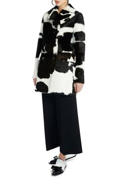 Spotted Calf Hair Double Breasted Jacket by MARNI (=)