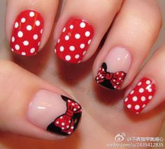 Minnie :) doing my nails like this for our upcoming Disneyland trip.