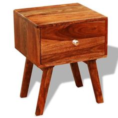 TOMTOP / Nightstands / side tables vintage sheesham x Living Room Furniture, Home Furniture, Stylus, Nightstand, Mid-century Modern, Drawers, Mid Century, Home And Garden, Ornament