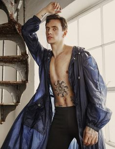 Ukrainian ballet dancer Sergei Polunin shot by Stephen Maycock and styled by Joseph Kocharian, for the April 2017 issue of Attitude magazine.