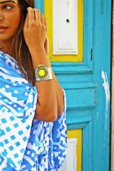 Yellow & turquoise by Gigi643