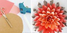 Návod na krásnu dekoráciu z papiera v podobe dahlie