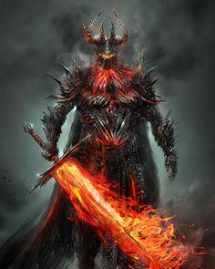 """Dark Lord"" by Jonás López Moreno Fantasy Armor, Dark Fantasy Art, Medieval Fantasy, Fantasy Art Warrior, Demon Art, Armor Concept, Concept Art, Fantasy Creatures, Mythical Creatures"