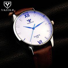 >> Click to Buy << YAZOLE Luxury Blue Glass Watch Men Watch Fashion Men's Watch Waterproof Wrist watches Clock saat relogio masculino reloj hombre #Affiliate