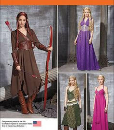 Simplicity Patterns Us1010H5-Simplicity Misses' Fantasy Costumes-6-8-10-12-14