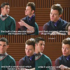 "#Glee 6x10 ""The Rise and Fall of Sue Sylvester"" - Blaine and Kurt"