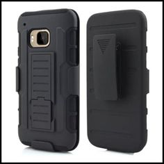 HTC One M9 Belt Clip Protective Phone cover, Heavy Duty Hybrid Kickstand Mobile case For HTC One M9