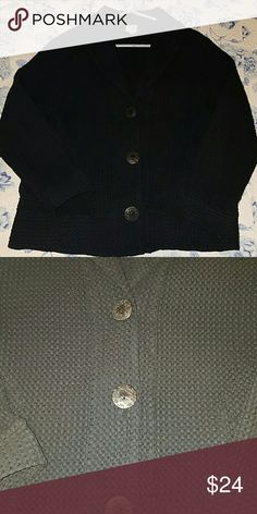 Black blazer jacket Focus black blazer jacket. GUC. Has a square pattern to it (see second pic).  Says medium, but I think it would fit large too. focus Jackets & Coats Blazers