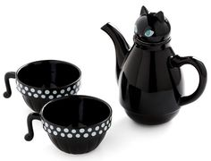 "Paw Me a Cup Tea Set in Cat, just to add to my ""tea for one"" collection (except this has two mugs! Cool Ideas, Cat Lover Gifts, Cat Gifts, Cat Lovers, Cat Mug, My Tea, Mug Cup, Vintage Kitchen, Retro Vintage"