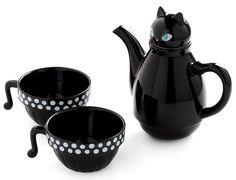 Set de té con forma de gato