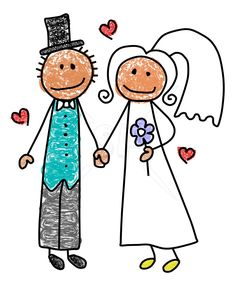 drawing bride cute stick drawing - Google Search