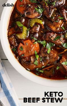 Beef Recipes, Cooking Recipes, Healthy Recipes, Beef Recipe Keto, Recipe Stew, Shrimp Recipes, Healthy Food, All You Need Is
