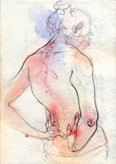 Adara Sánchez Anguiano Love ink+watercolor