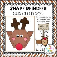 Shape Reindeer Cut a