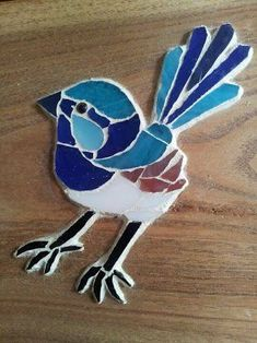 Image result for blue wren mosaic Mosaic Artwork, Mosaic Wall, Mosaic Glass, Mosaic Birdbath, Mosaic Rocks, Mosaic Animals, Mosaic Birds, Mosaic Crafts, Mosaic Projects