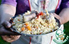 Настоящий узбекский плов по-Самаркандски.       Баранина — 1,2 кг     Рис (круглозерный. Я взяла Италика ТМ Мистраль) — 1 кг     Лук репчатый — 2 шт     Морковь — 1,5 кг     Чеснок — 6 шт     Жир (бараний) — 300 г     Масло подсолнечное — 300 мл     Перец чили — 1 шт     Нут — 100 г     Зира — 1 ст. л.     Соль