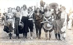 Cowgirls of Pendleton - A Fashion statement if I ever saw one!