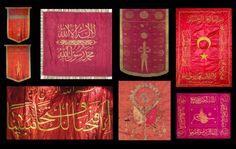 différentes bannières ottomanes