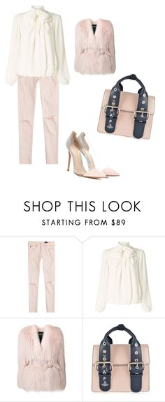 """""""Untitled #1310"""" by laiaespimonter ❤ liked on Polyvore featuring AG Adriano Goldschmied, Somerset by Alice Temperley, Balmain, Vivienne Westwood and Gianvito Rossi"""