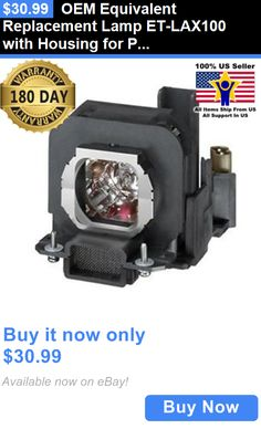Projector Lamps and Components: Oem Equivalent Replacement Lamp Et-Lax100 With Housing For Panasonic Projectors BUY IT NOW ONLY: $30.99