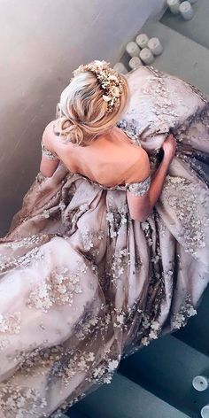 36 Floral Wedding Dresses That Are Incredibly Pretty ❤ floral wedding dresses ball gown princess off the shoulder purple nataliya strebova ❤ See more: http://www.weddingforward.com/floral-wedding-dresses/ #weddingforward #wedding #bride #bridalgown