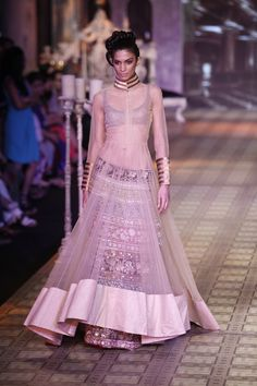 Manish Malhotra lehenga, indian wedding, indian bridal - the skirt under the see through lehenga is quite amazing