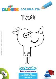 Stampa e colora il simpatico Tag
