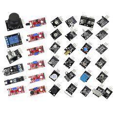 Умная Электроника 37in1 37 в 1 Сенсор комплект для Arduino Пусковые устройства бренд Kit купить на AliExpress