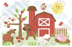 search for: BARNYARD FARM ANIMALS NURSERY from decampstudios. Tons of decals, stock sells and is relisted.