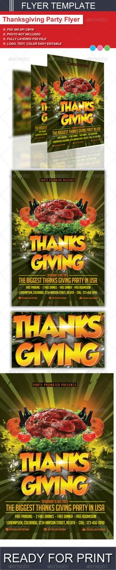 Thanksgiving Party Flyer Template Psd  Buy And Download Http
