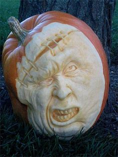 Ouch Pumpkin Sculpture/Carving by Ray Villafane
