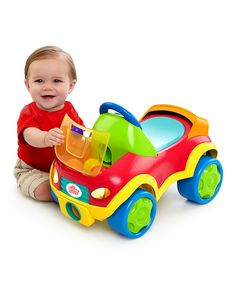 Another great find on #zulily! Bright Starts Pop & Roll Roadster by Bright Starts #zulilyfinds
