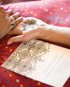 Create the same henna pattern from your invitations