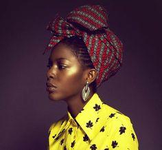 bumi thomas in turban African Inspired Fashion, African Fashion, African Style, Fashion Mode, Star Fashion, Fashion Photo, High Fashion, African Beauty, African Women