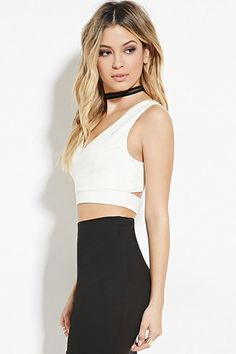 $16, F21. Cutout Back V-Neck Crop Top