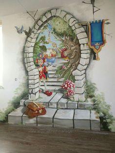 Playroom Mural, Kids Room Murals, Murals For Kids, Kids Room Art, Art Wall Kids, Diy Wall Art, Creative Wall Painting, Wall Painting Decor, Mural Art