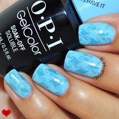 OPI GelColor The I's Have It & holographic stamping