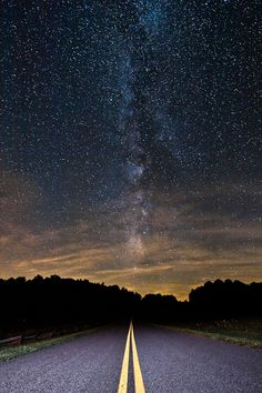 Night Drive on the Blue Ridge Parkway