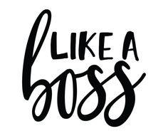 Free SVG cut files - Like a Boss