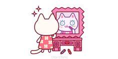 Gif animado gatita presumida para enviar gratis a tus amigas como ecard online.