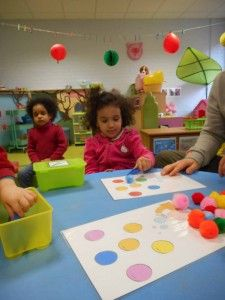 "Zavelput » Peuterklasje » Thema: ""Ballen en Ballonnen"" Classroom Activities, Childcare, Mardi Gras, Kids Rugs, Math, Textiles, Carnival, Toy, Color"