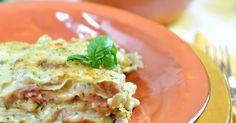 Lasagne con pesto leggero, mozzarella e prosciutto cotto Mozzarella, Pesto, Prosciutto Cotto, Ravioli, Italian Recipes, Pizza, Chicken, Cooking, Blog